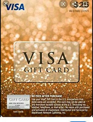 $25 GIFT CARD ACTIVATED No Fees After Purchase. Non Reloadable.