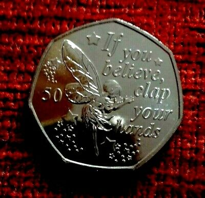 2019  90th Anniversary TINKERBELL Peter Pan  50p coin - Unc from a sealed bag