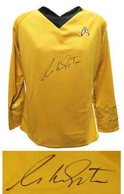William Shatner Signed Star Trek Captain Kirk Uniform Costume Shirt - SCHWARTZ