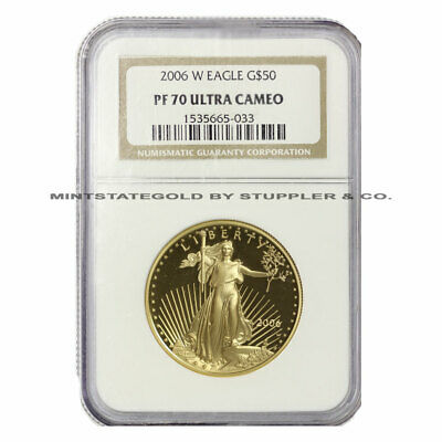 2006-W $50 Eagle NGC PF70UCAM Ultra Cameo American Gold Bullion Proof 1oz coin