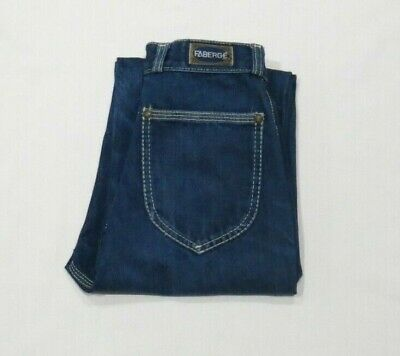 Vintage Faberge Womens Denim Jeans High Waisted Straight Regular Blue Size 9