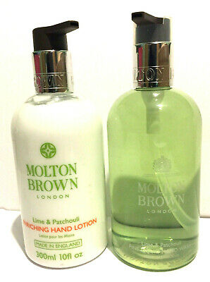 Molton Brown Lime & Patchouli Hand Wash + Hand Lotion 300Ml Each Gift Set New