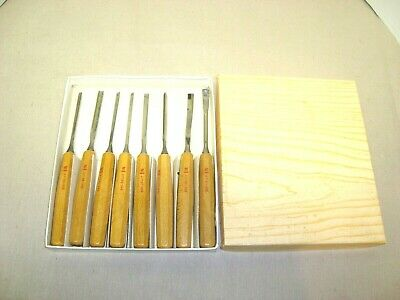 Vintage Eight Piece Wood Carving Set. Germany