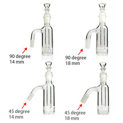 Grav Glass Ash Catcher 14mm 18mm 45 degree 90 degree Ash Catchers For Glass Bong
