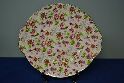 Chintz Collection by Royale Garden Staffordshire England Pink Floral Plate