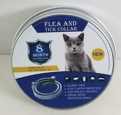 Flea & Tick Collar For Dogs & Cats 8 Month Protection Up To 55 Lbs Sealed New