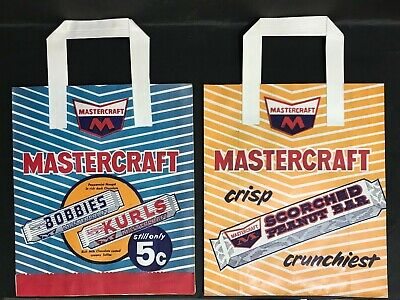 SHOWBAG VINTAGE MASTERCRAFT LOT OF 2 5C BAGS FROM 1970's
