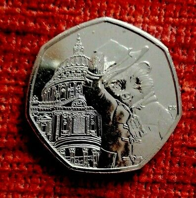 2019 UNCIRCULATED PADDINGTON BEAR AT ST PAULS CATHEDRAL 50P COIN from sealed bag