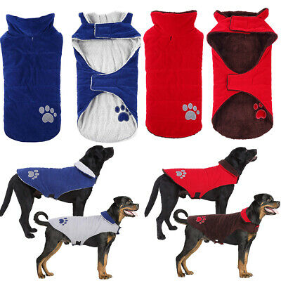 Reflective Waterproof Dog Coats Winter Warm Padded Pet Puppy Clothes Jacket UK