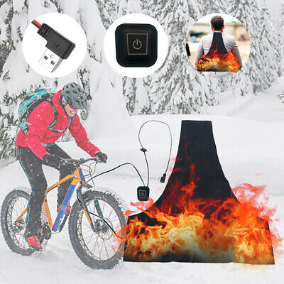 USB Plug Warmer Electric Vest 5V 2A Heating Pad Jacket Washable 3 Speed Winter