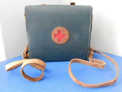 Wonderful Vintage First Aid Red Cross Backpack Fold out Carry Hard Case