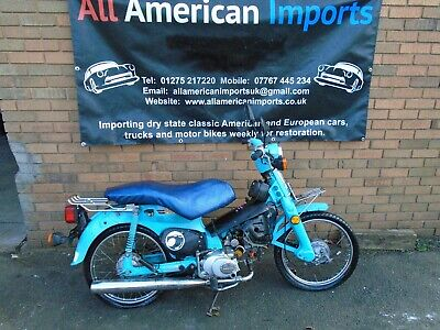 Honda C70 Project (1981) Blue Us Import! Uprated Engine? Ideal Custom! Delivery!