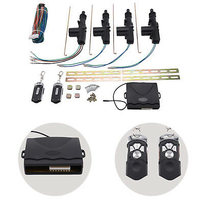 Universal Car Remote Control Central Kit 4 Door Door Lock Locking Keyless Entry