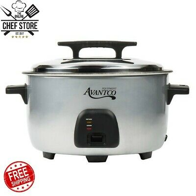 Commercial 60 Cup (30 Cup Raw) Electric Rice Cooker Warmer 120V 1750W Silver