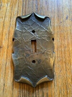 Vintage Metal Amerock Light Switch Plate Cover SA Single Ornate L2 2