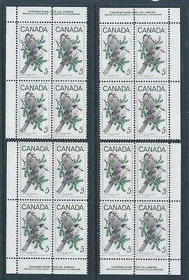 Canada #478 Wildlife Matched Set Plate Block MNH