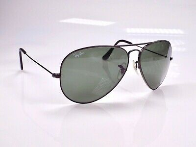 Vintage 1980's B&L Ray Ban Aviator Large Metal II, L2821, 62mm Sunglasses + Case