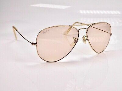 1980's B&L Ray Ban Aviator Photochromic Changeables 58mm Sunglasses + Case