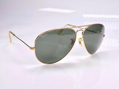 Vintage 1980's B&L Ray Ban Aviator Large Metal II, L2846, 62mm Sunglasses + Case