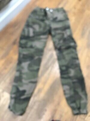 New Look girls army cargo camouflage trousers age 12