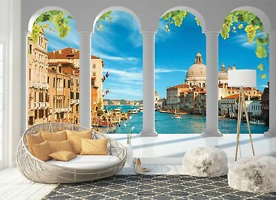 Wall Mural Photo Wallpaper Picture EASY-INSTALL Fleece Roman Windows Arches Mist