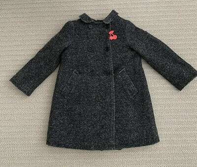 Bonpoint French Designer Girls Wool Double Breasted Coat Age 4 USED