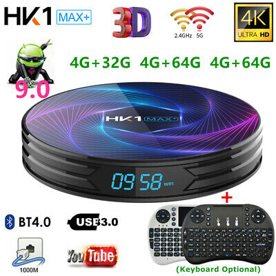 Lot HK1 MAX+ Android9.0 TV BOX RK3368 OctaCore 32G/64G/128G 4K 3D WIFI BT Player