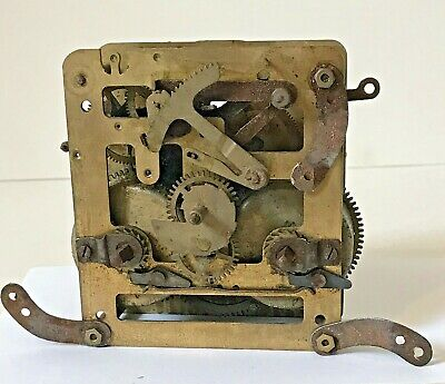 Untested Antique Clock Movement For Spares And Repairs