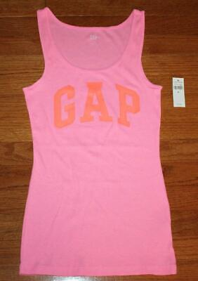 NEW NWT Womens GAP Love by GapBody Pink Tank Top Built-In Bra Ribbed Stretch *5R