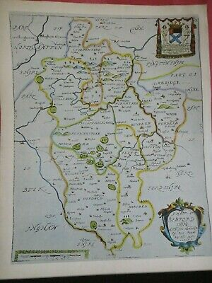 Bedfordshire Replica of Map by Richard Blome 1673 Antique Maps of Britain No.135