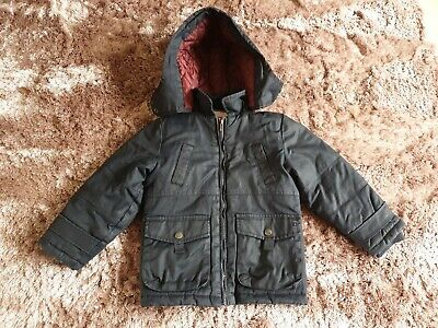 Boys French Connection Navy Coat. Age 4-5. Hooded. VGC