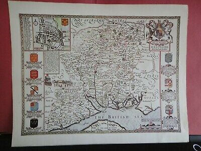 Hampshire Replica of Map by John Speed, 1610-11 Antique Maps of Britain No.55