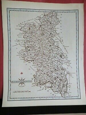 Buckinghamshire Replica of Map by John Cary, 1787 Antique Maps of Britain No.63