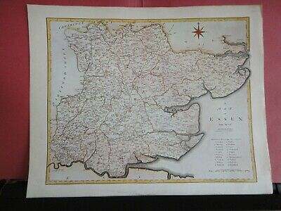 Essex Replica of Map by John Cary, 1805 Antique Maps of Britain No.126