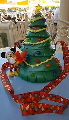 Disney Parks 2019 Disneyland Light-Up Mickey Christmas Tree Popcorn Bucket NEW