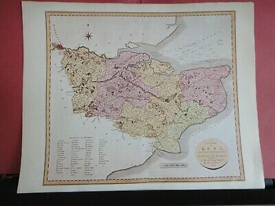 Kent Replica of Map by John Cary, 1806 Antique Maps of Britain No.121