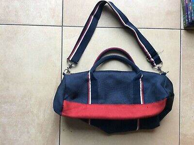 Boys TOMMY HILFIGER navy sports pe football rugby carry shoulder duffle bag VGC