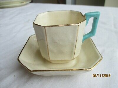 Early Art Deco Staffordshire Cabinet Cup & Saucer