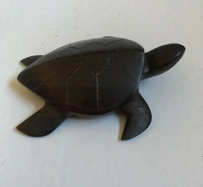 """Hand Carved Iron Wood Turtle  4.5 """"  From Mexico"""