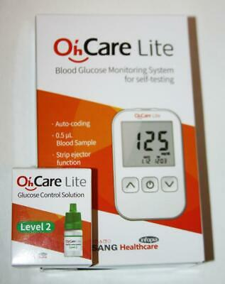 OhCare Blood Glucose Monitoring System Sugar Monitor Self Test Diabetes Diabetic