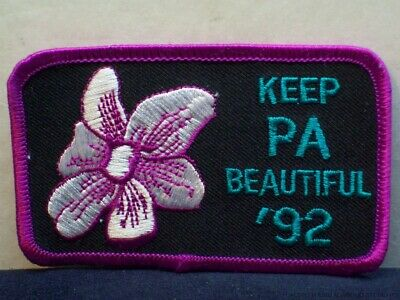 Vintage Keep PA Beautiful Patch Pennsylvania Travel Souvenir Embroidered Badge