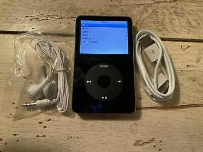 Apple IPod Classic 5th Gen Black 30 GB ENHANCED REFURBISHED BUNDLE