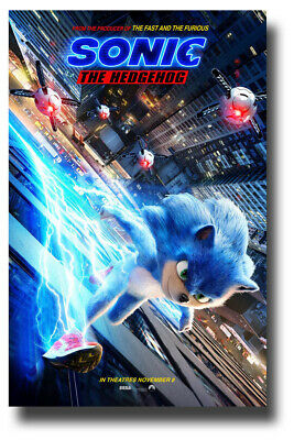 "Sonic The HedgeHog Poster Movie 11""x17"" 2020 Hedge Hog UpBldg USA SAMEDAY SHIP"