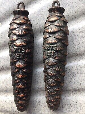 Pair of Vintage  Cuckoo Clock Pine Cone  Weights  275 ET