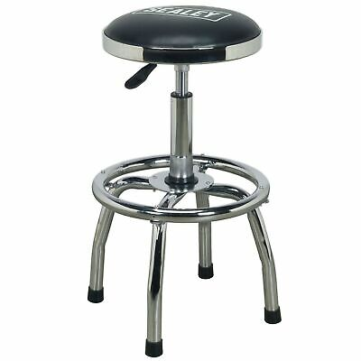 Sealey Heavy-Duty Pneumatic Workshop Stool with Adjustable Height Swivel Seat