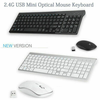 Black Wireless Mini Ultra Slim Keyboard and Mouse For Easy Smart TV Contol for Samsung UE50ES6300 50 Smart TV