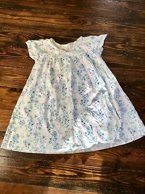 Mini Vanilla Girls 100% Brushed Cotton Short Sleeved Nightie Dress Gown Age 5-6