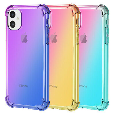 Clear Colorful Airbag Shockproof Soft Case Cover For iPhone 11 Pro Max Xr Xs 8 7