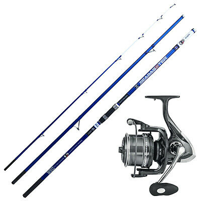 KP4311 Kit Pesca Surfcasting Canna Evo Seabasster Mulinello Andromeda XT PPG