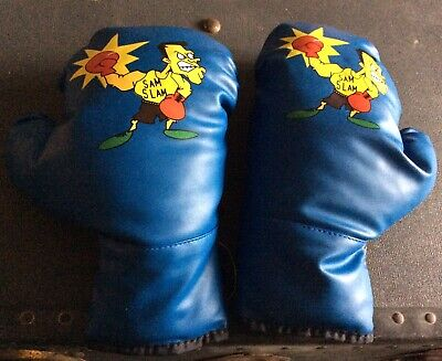 Pair Of Blue Boxing Gloves. Size Medium